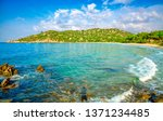bay at the mediterranean sea in ... | Shutterstock . vector #1371234485