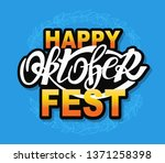 happy oktoberfest   cute vector ... | Shutterstock .eps vector #1371258398