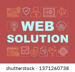 web solution word concepts...