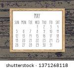 may year 2019 monthly calendar. ... | Shutterstock . vector #1371268118