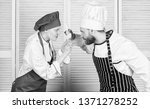 couple compete in culinary arts.... | Shutterstock . vector #1371278252
