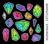 line color neon gradient... | Shutterstock . vector #1371296648
