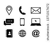set of hand drawn vector icons... | Shutterstock .eps vector #1371317672