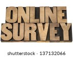 online survey   isolated text... | Shutterstock . vector #137132066