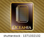 gold emblem or badge with note ... | Shutterstock .eps vector #1371332132