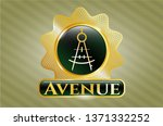 gold badge or emblem with...   Shutterstock .eps vector #1371332252