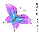 beautiful pink butterflies... | Shutterstock .eps vector #1371336452