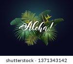 summer tropical vector design... | Shutterstock .eps vector #1371343142