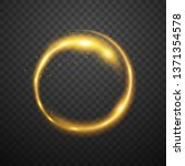 glowing circle on dark... | Shutterstock .eps vector #1371354578