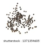 black peppercorns  isolated on... | Shutterstock . vector #1371354605