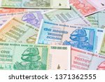 banknotes of zimbabwe after... | Shutterstock . vector #1371362555