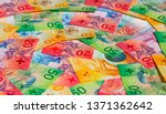 collection of the new swiss... | Shutterstock . vector #1371362642