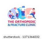 orthopedic illustration. modern ... | Shutterstock .eps vector #1371366032