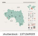 vector map of guinea.  high... | Shutterstock .eps vector #1371369035