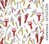 construction tools pattern... | Shutterstock .eps vector #1371371255