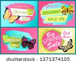 spring discount sale 15 off set ... | Shutterstock . vector #1371374105