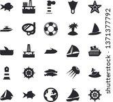 solid vector icon set   fish...