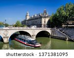 cityscape of paris with the... | Shutterstock . vector #1371381095