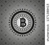 bitcoin icon inside dark emblem.... | Shutterstock .eps vector #1371388415