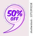 50  off sale promo web banner.... | Shutterstock .eps vector #1371393218