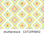 watercolor geometrical pattern... | Shutterstock . vector #1371395852