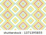 watercolor geometrical pattern... | Shutterstock . vector #1371395855