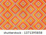 watercolor geometrical pattern... | Shutterstock . vector #1371395858