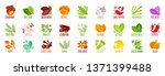 big set of vegetables nuts... | Shutterstock .eps vector #1371399488