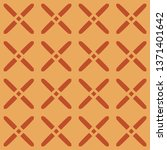 cross hatch lattice motif in... | Shutterstock .eps vector #1371401642