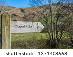 footpath sign in england | Shutterstock . vector #1371408668