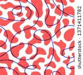 memphis style red seamless... | Shutterstock . vector #1371411782