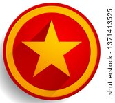 star icon. yellow star over red ... | Shutterstock .eps vector #1371413525