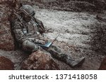 soldiers of special forces on...   Shutterstock . vector #1371418058