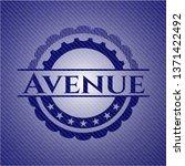avenue emblem with denim high...   Shutterstock .eps vector #1371422492