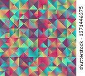multicolored gradient triangle  ... | Shutterstock .eps vector #1371446375