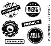 vector set of vintage stamps... | Shutterstock .eps vector #137144642