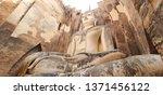 big beautiful budha image .wat...   Shutterstock . vector #1371456122