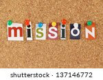 the word mission in cut out... | Shutterstock . vector #137146772
