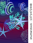 underwater background. cute...   Shutterstock .eps vector #1371472448