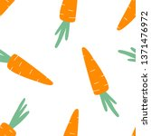 arrot hand drawing seamless... | Shutterstock .eps vector #1371476972