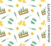 gardening seamless pattern with ... | Shutterstock .eps vector #1371476975