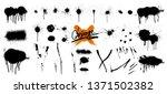 spray graffiti stencil template.... | Shutterstock .eps vector #1371502382