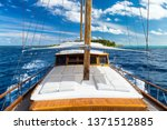 luxury sailing boat yacht in... | Shutterstock . vector #1371512885