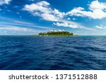 view from boat on sea ocean of... | Shutterstock . vector #1371512888