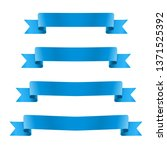 blue realistic ribbon banners... | Shutterstock .eps vector #1371525392