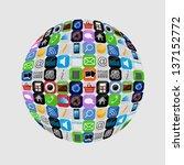apps icon set  illustration | Shutterstock . vector #137152772