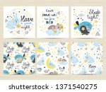 set of cards for small boys.... | Shutterstock .eps vector #1371540275