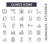 clinics line icons  signs set ... | Shutterstock .eps vector #1371552815
