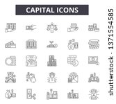 capital line icons  signs set ... | Shutterstock .eps vector #1371554585
