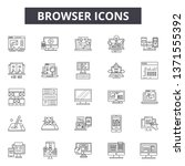 browser line icons  signs set ... | Shutterstock .eps vector #1371555392